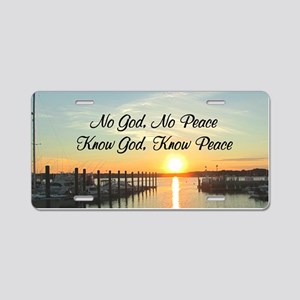 GOD IS PEACE Aluminum License Plate